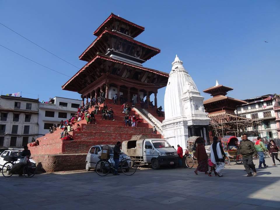 Pagoda de Nepal antes del terremoto