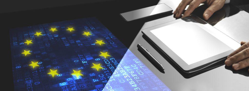 Bandera EU y Código Europeo de las Communicaciones Electrónicas